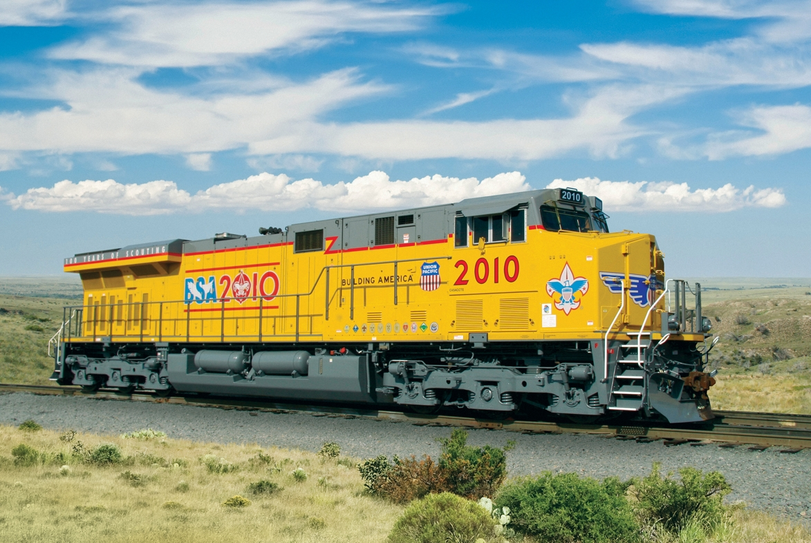 UP: Union Pacific Railroad Unveils No  2010 Boy Scouts of America