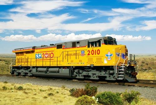 Up Union Pacific Railroad Unveils No 2010 Boy Scouts Of