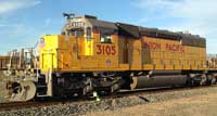 "<a href=""/newsinfo/graphics/media_kit/steam/4014/3105.jpg"">High-Res Version</a><br>UP Diesel Locomotive No. 3105, <br>given in trade to RailGiants Train Museum"