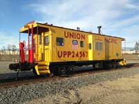 "<a href=""/newsinfo/graphics/media_kit/steam/4014/caboose.jpg"">High-Res Version</a><br>UP Caboose UPP24567, <br>given in trade to RailGiants Train Museum"