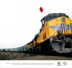 "<a href=""/newsinfo/attachments/media_kit/up150/print_ad_owh_today.pdf"">Print from PDF</a><br>Today, the men and women of Union Pacific celebrate 150 years of hauling the nation's goods. Thank you, America's Heartland, for being vital to the company's success and our country's progress. Join the celebration at www.up150.com."